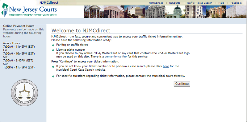 NJMCDirect – Pay Tickets Online